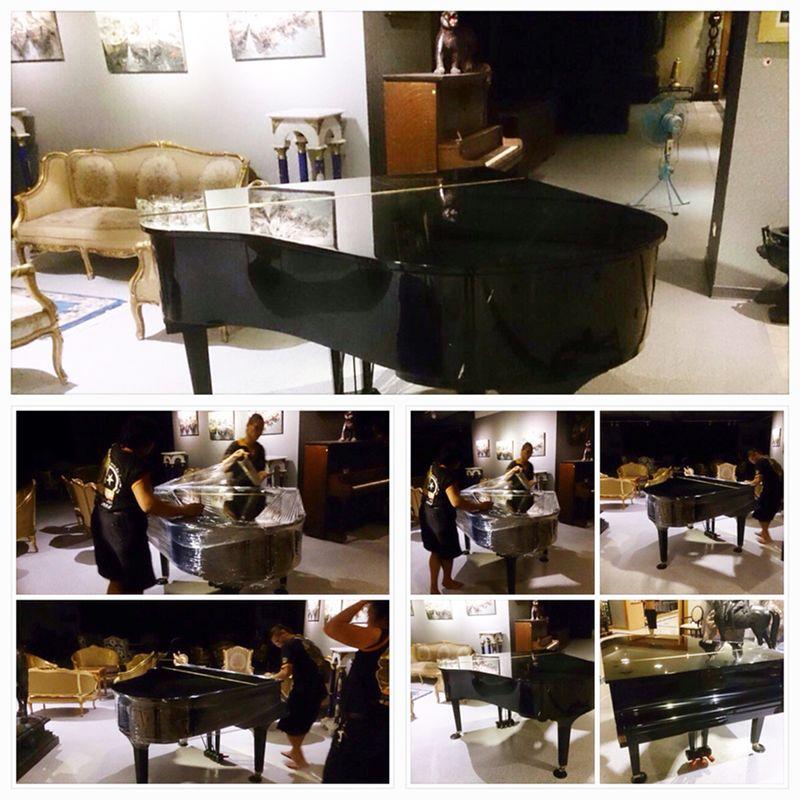 搬家案例.展場之藝術品與三角鋼琴搬運3