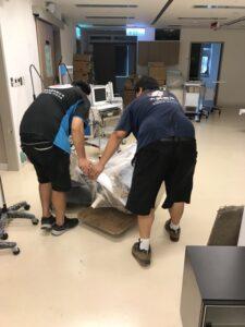 台北醫學大學大安校區同棟搬運及部分搬運回北醫