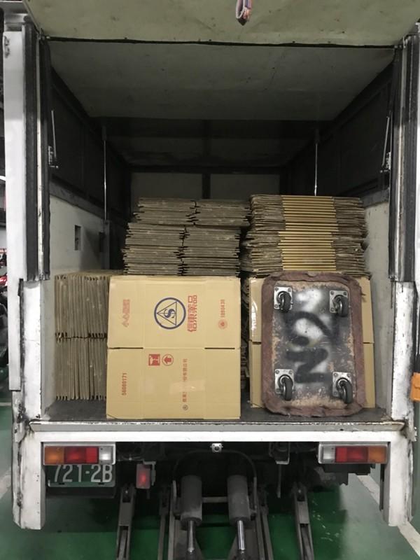 台北市搬家案例.北醫庫房整理紙箱與移動上架定位1
