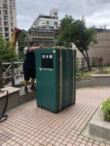 台北市內湖區搬家案例.鮮米自動販賣機鮮米機社區內搬運移動3